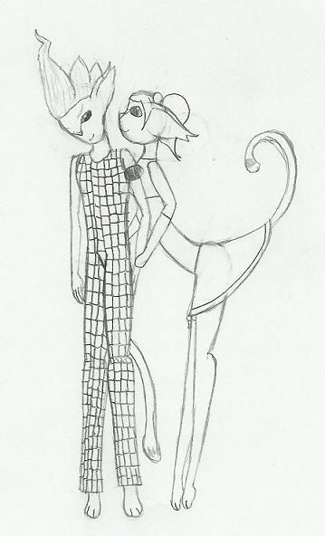 Ulala and Purge Kitties by CharonTheSabercat