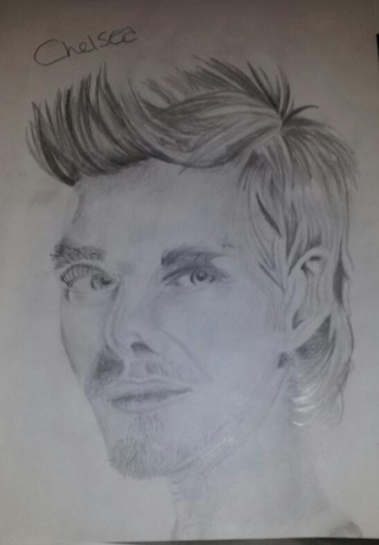 David Beckham Portrait by Chelsea93roc
