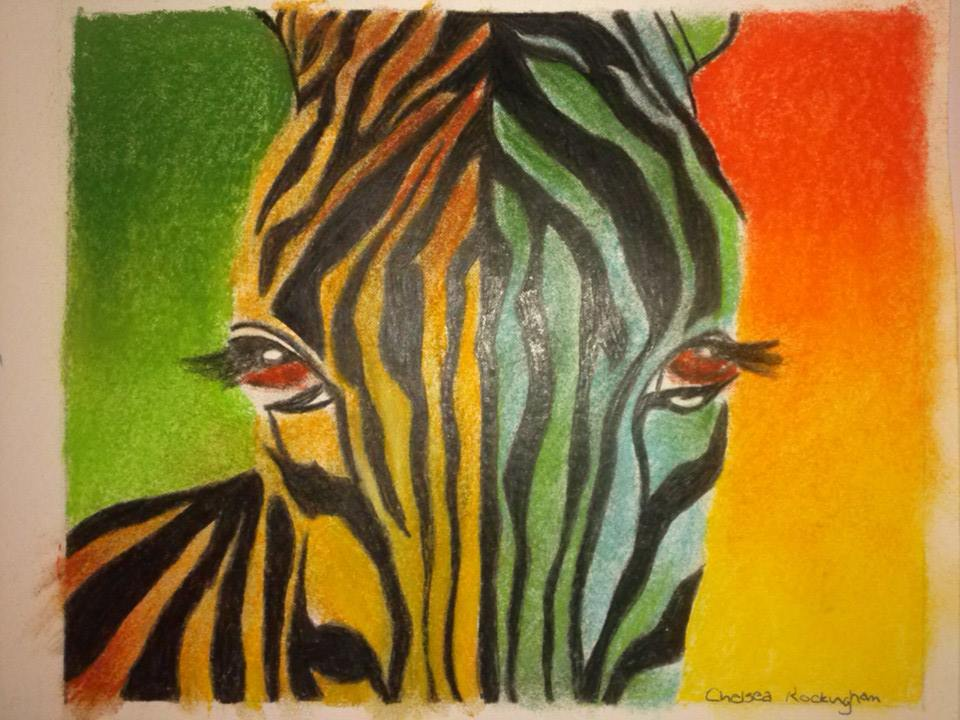 Abstract Zebra by Chelsea93roc