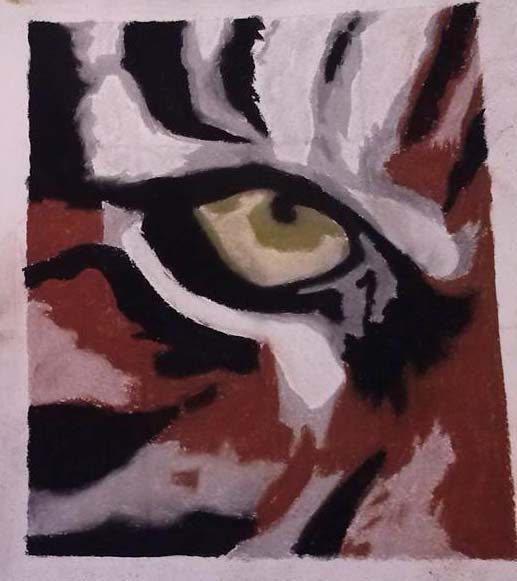 Eye of the Tiger (colour) by Chelsea93roc