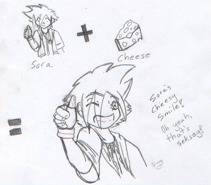 Cheesy Smile Sora by CherryShock