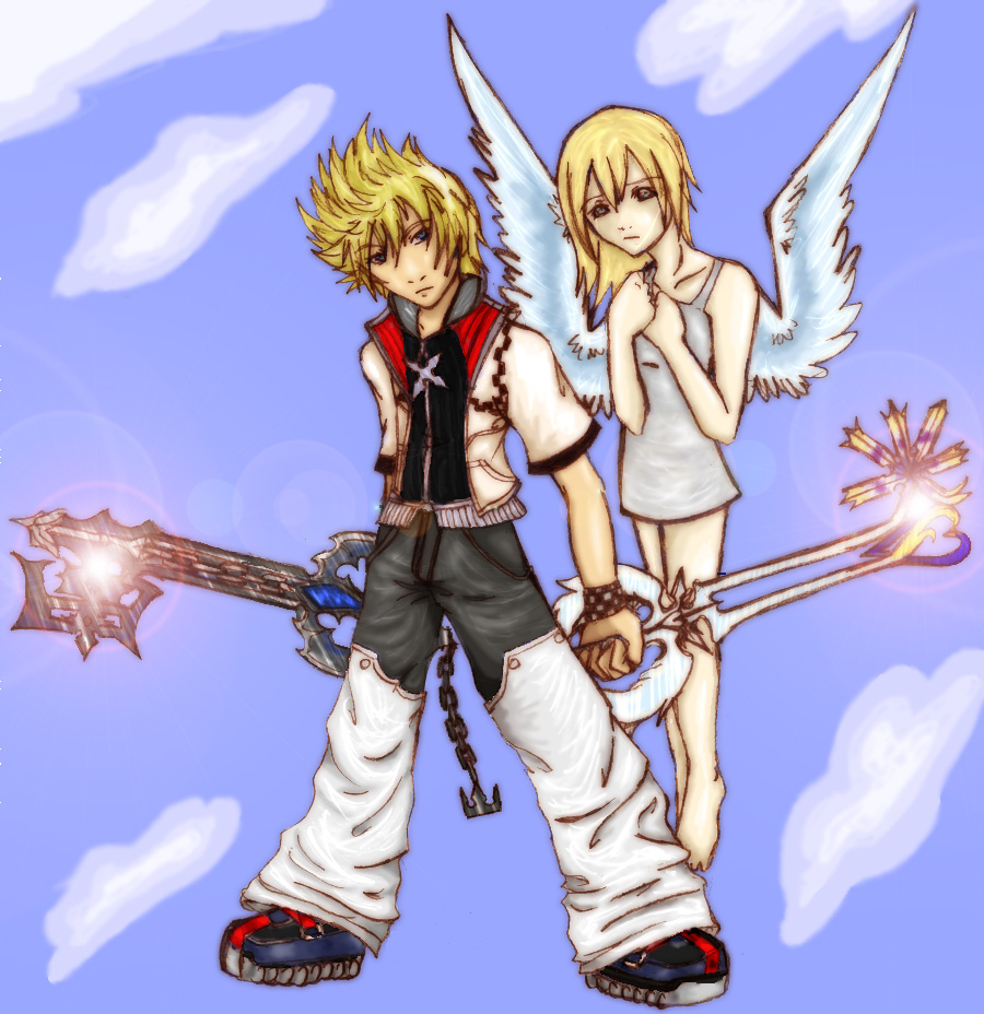 Light Side Roxas and Namine by CherryShock