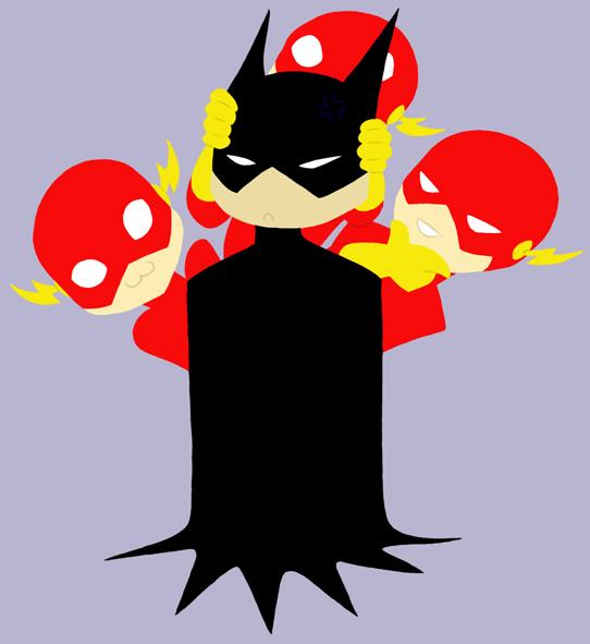 Lil League - Batman and the Flash by ChibiJaime