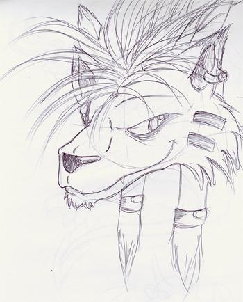 Nanaki- Pen Sketch by Chickibo