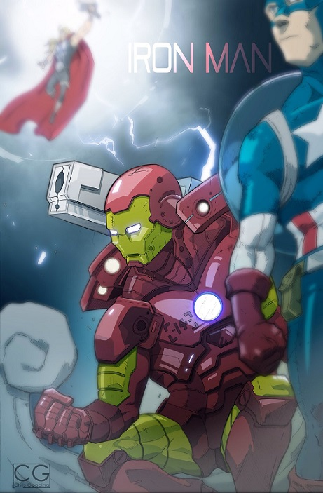 Iron Man prepares for battle by Chrisgooding