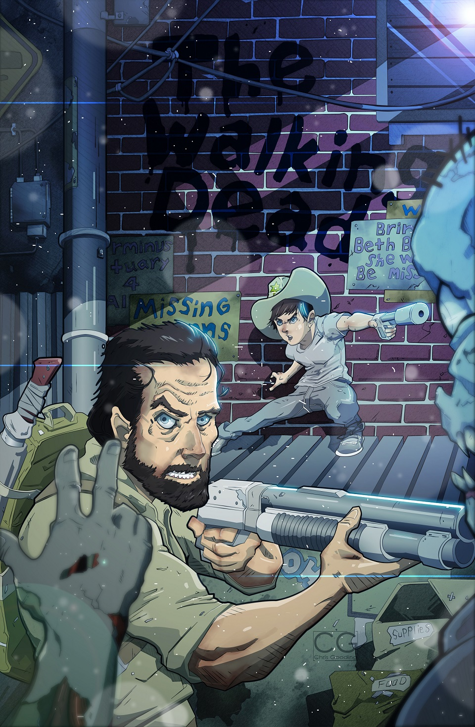 The Walking dead Father and Son by Chrisgooding