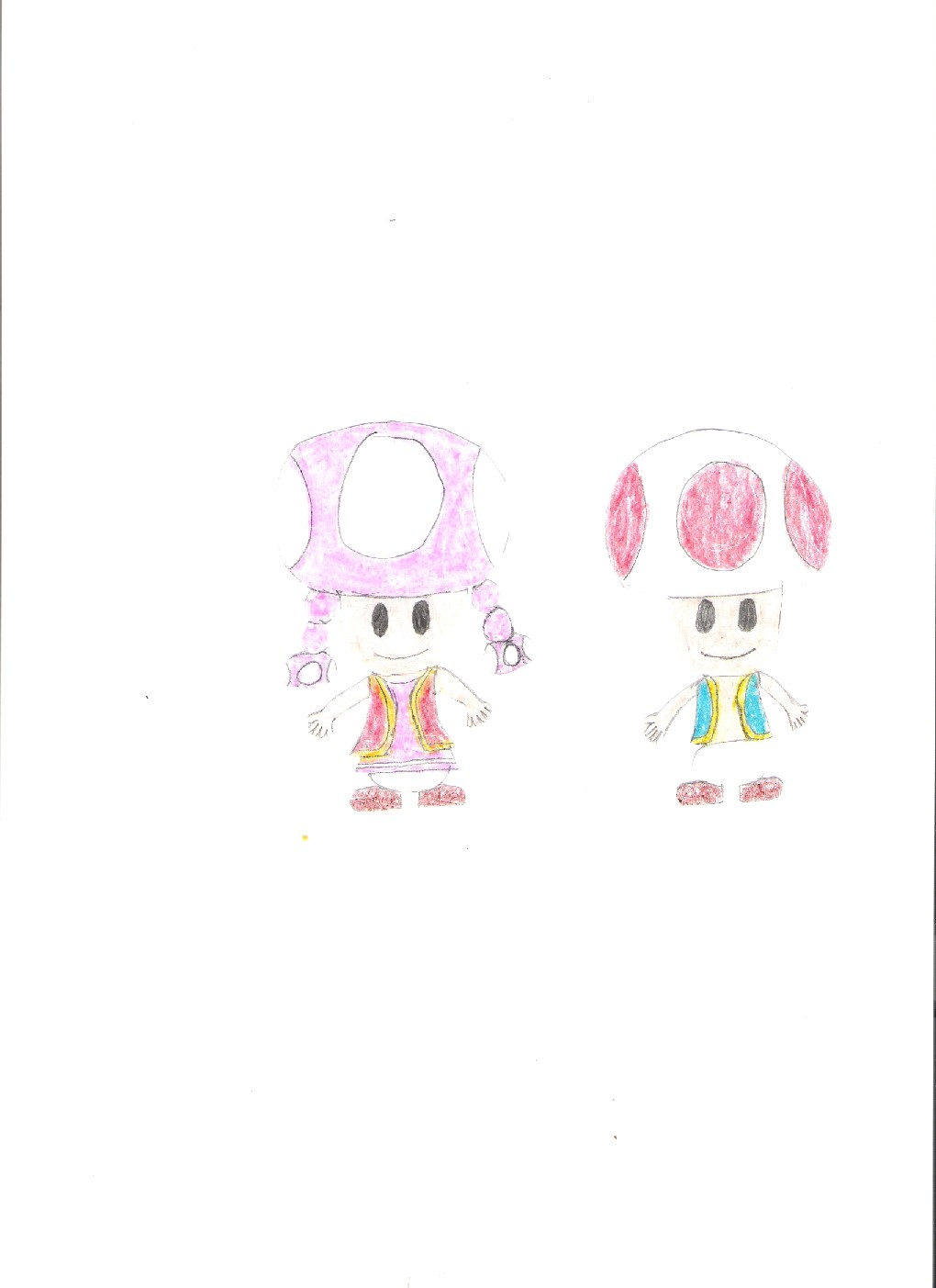 Toad and Toadette by Coolstra