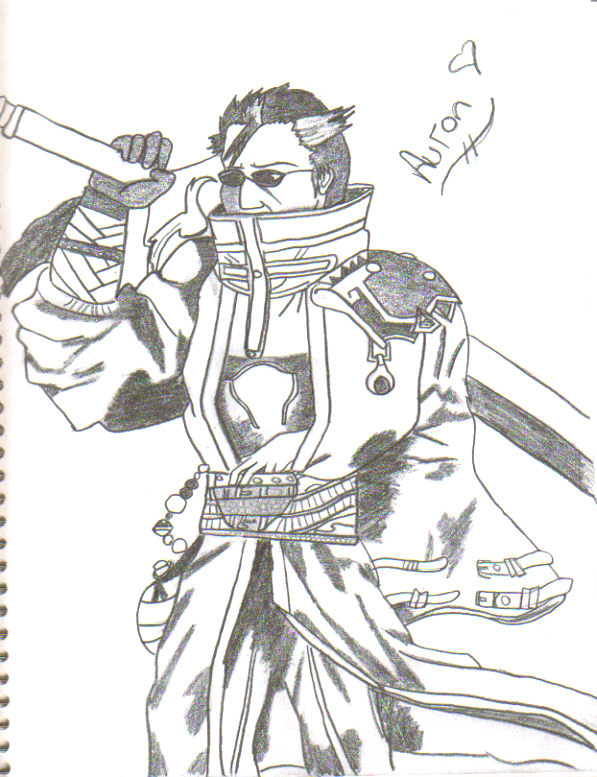Auron Sketch by CourtneySoraRiku69