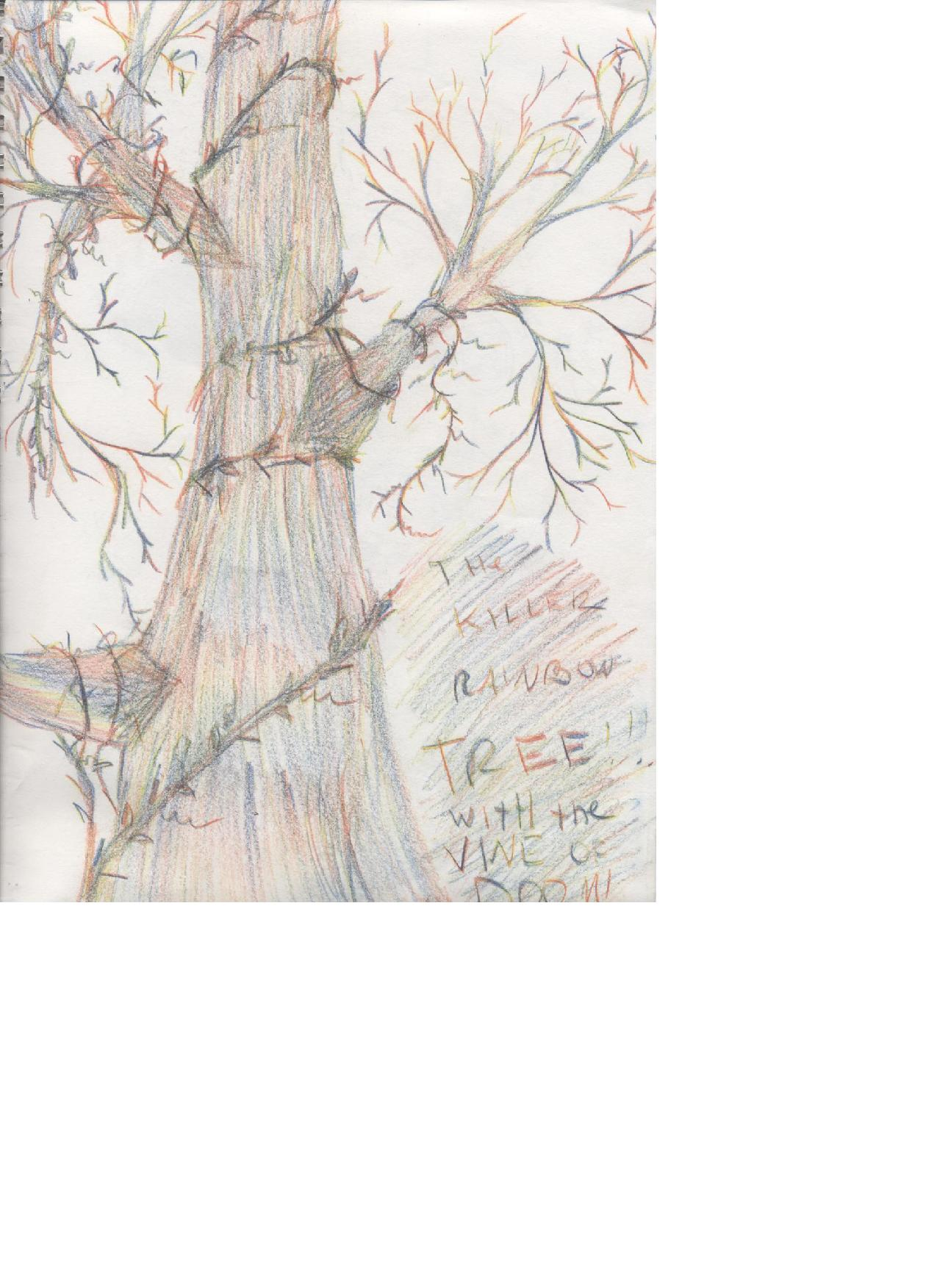 The killer rainbow tree with the vine of doom by CrashAndBurn