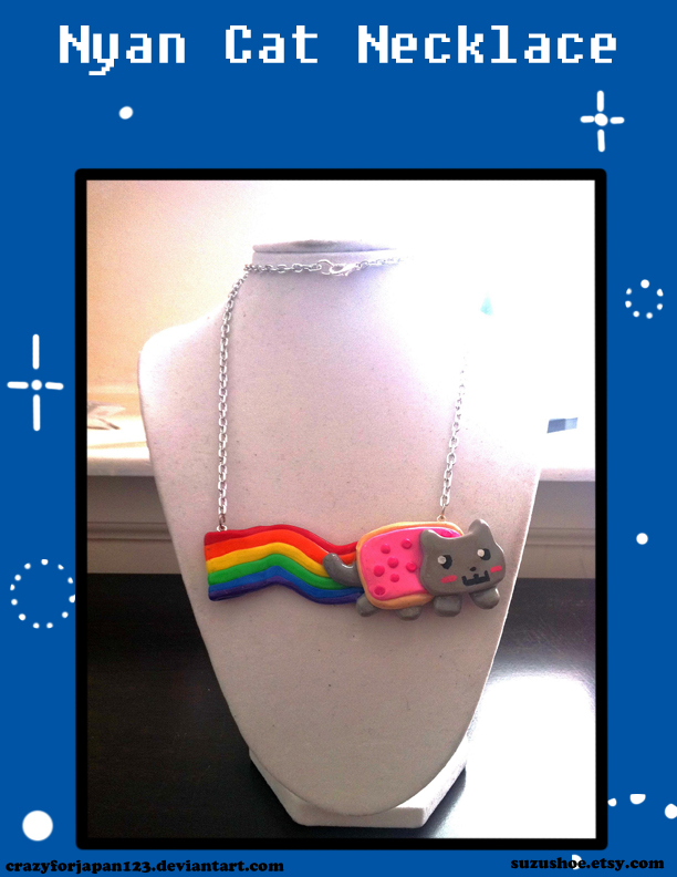 Nyan Cat Necklace by CrazyForJapan123