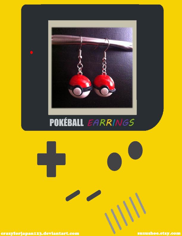 Pokeball Earrings by CrazyForJapan123