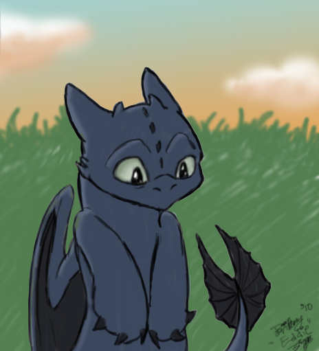 Toothless Daydream by CrazyKomouri