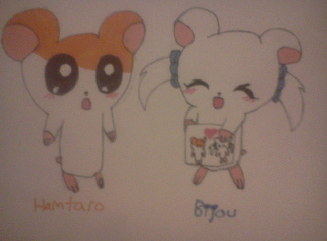 Hamtaro and Bijou by CreamandPoppufan166
