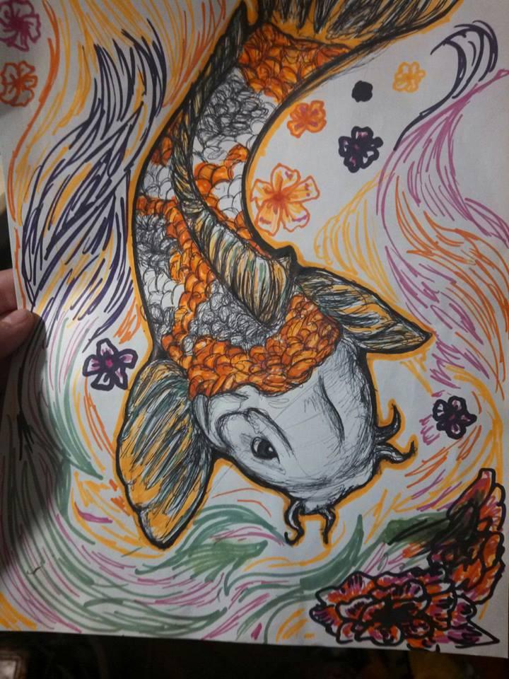 Koi Fish by Creative_Disasterx