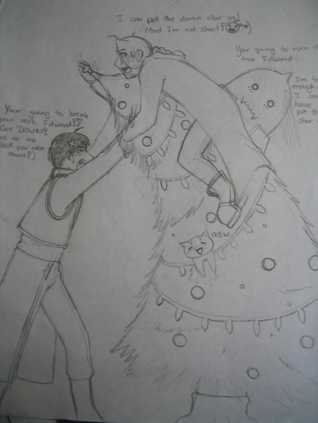 Christmas Tree Fiasco ^-^ by Crimson_LustVampiress