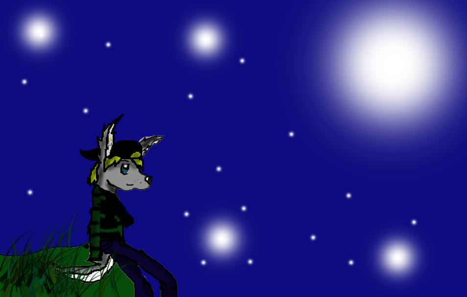 Watching the stars by Crowfeather