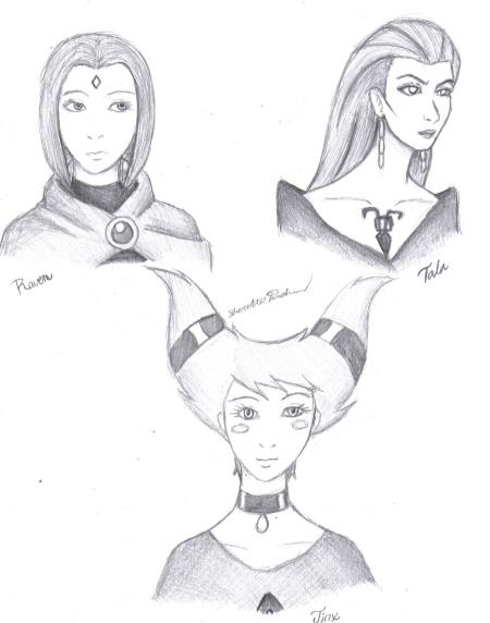 Raven, Tala, & Jinx by CrystalKitsune357