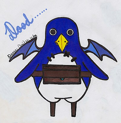 a Prinny from Disgaea dude! by CuteAngelChik
