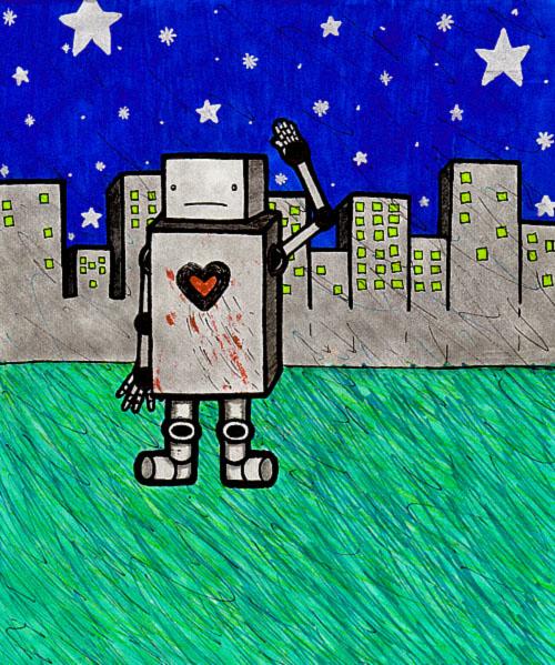 Bleeding heart Robot by CuteAngelChik