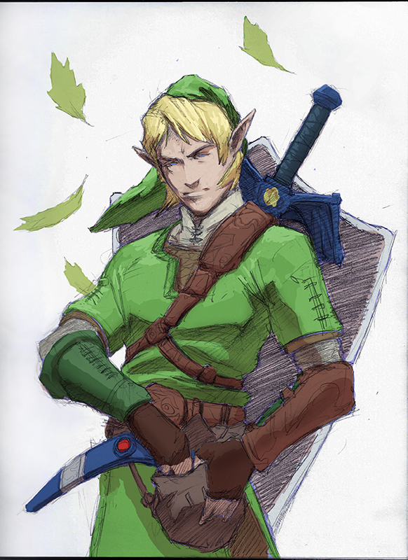 Link sketch with some quick color by chevronlowery
