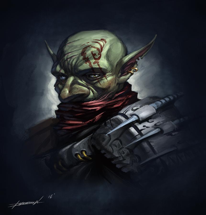 Goblin Assassin Portrait by chevronlowery
