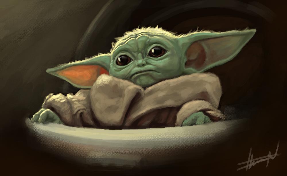 Baby Yoda by chevronlowery