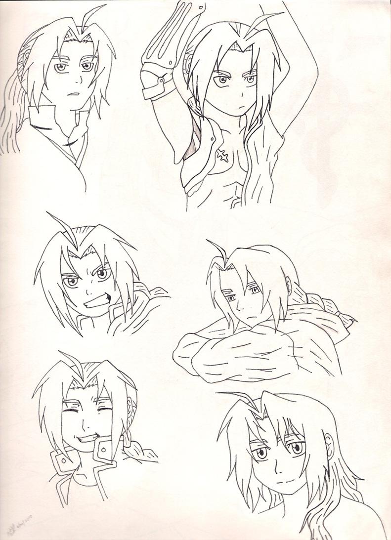 Ed Doodles pt1 by chibi_luna_chan