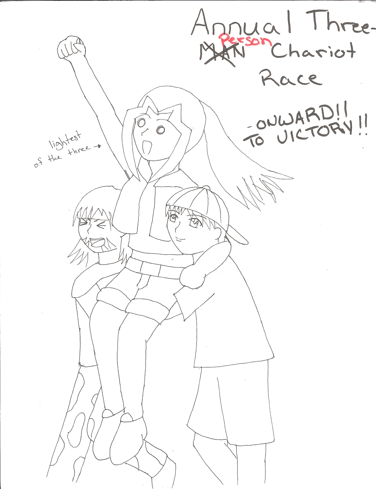 Annual Three Person Chariot Race by chichirifan92