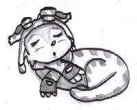 "Sleeping innnocent FURBALL!! :""3 by by chocolate_coffee_girl"