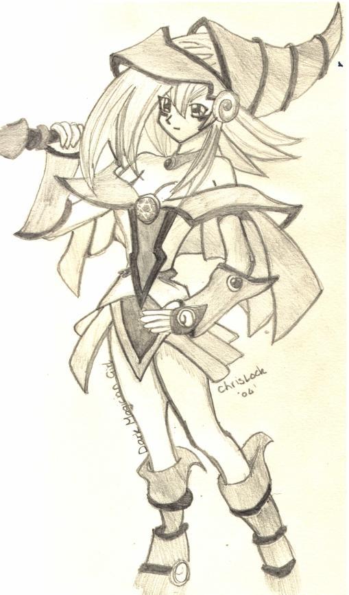 Dark Magician Girl (yu-gi-oh) by chrislock