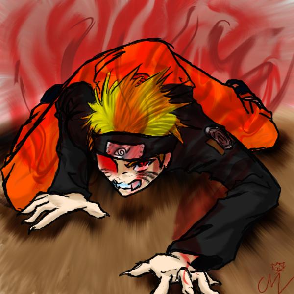 Naruto: Kyuubi Mode by churajazzpants