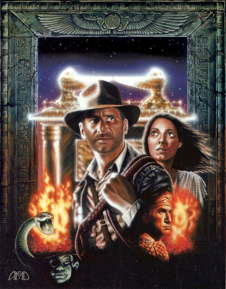 RAIDERS 20th Anniversary artwork by cinemalad