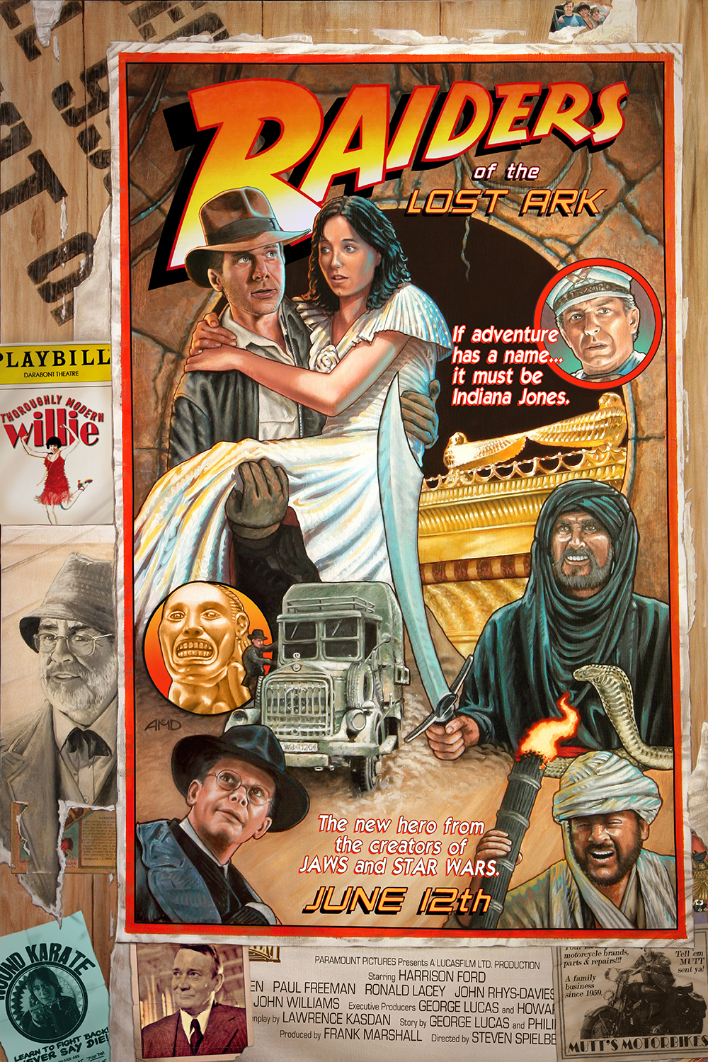 "Raiders of the Lost Ark ""Circus Style"" poster - revised by cinemalad"