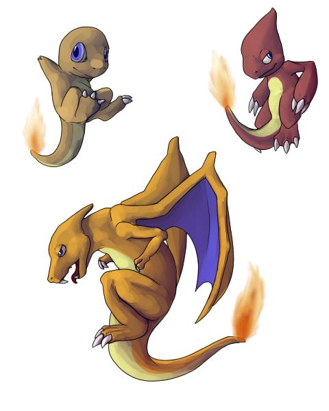 Pokemon: 004 005 006 by clockworkindy