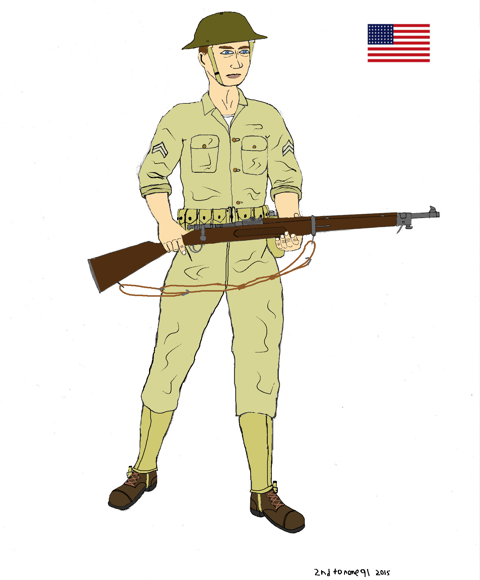 American soldier early Pacific war Phillipines by colt91