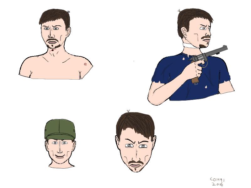 Jimmy Veneko character study by colt91