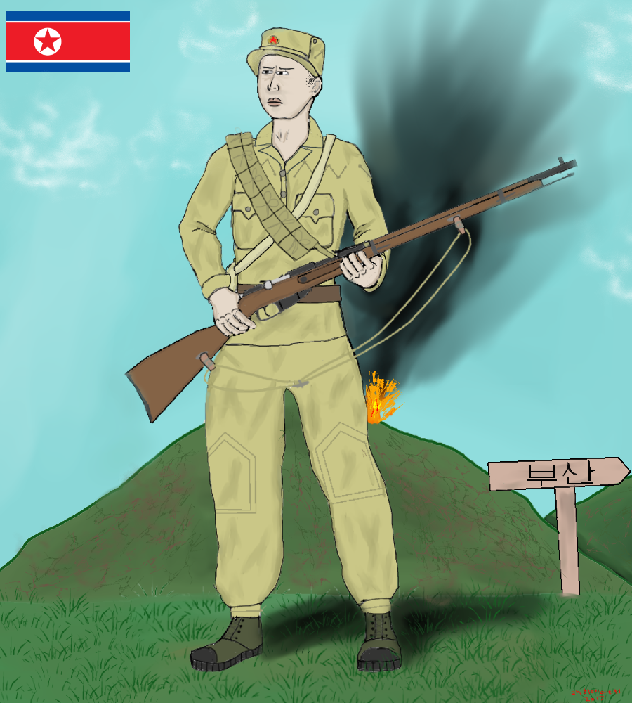 North Korean soldier 1950-1953 Summer by colt91