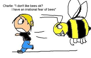 Charlie's irrational fear of bees! by crazybasketcaseloonyfreak