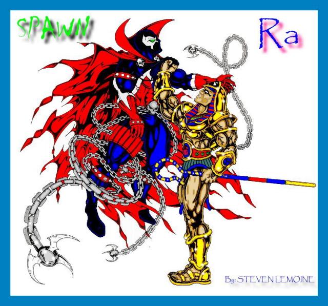 RA vs SPAWN by DARK_REIGN