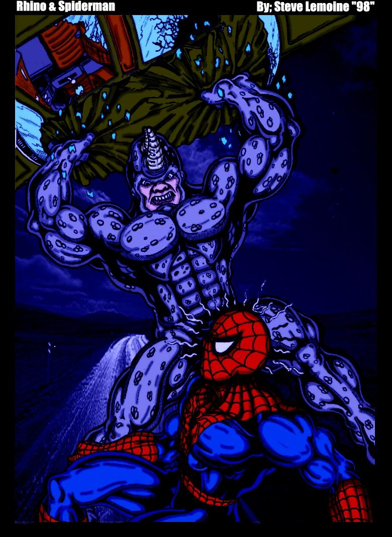Rhino Spiderman by DARK_REIGN
