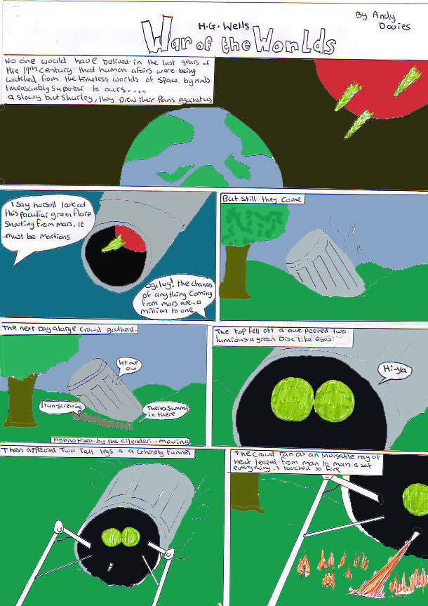 War Of The Worlds Comic Page 1 of 3 by DJande