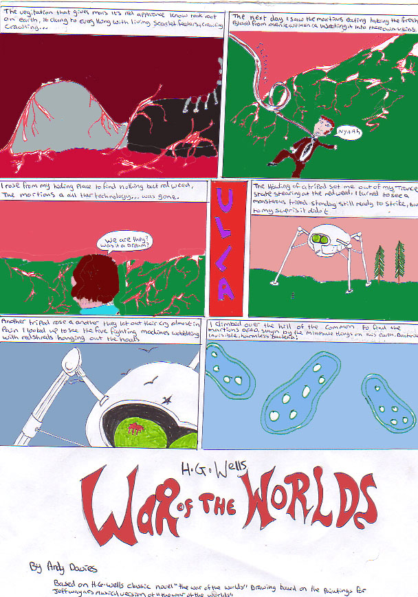 War Of The Worlds Comic Page 3 of 3 by DJande