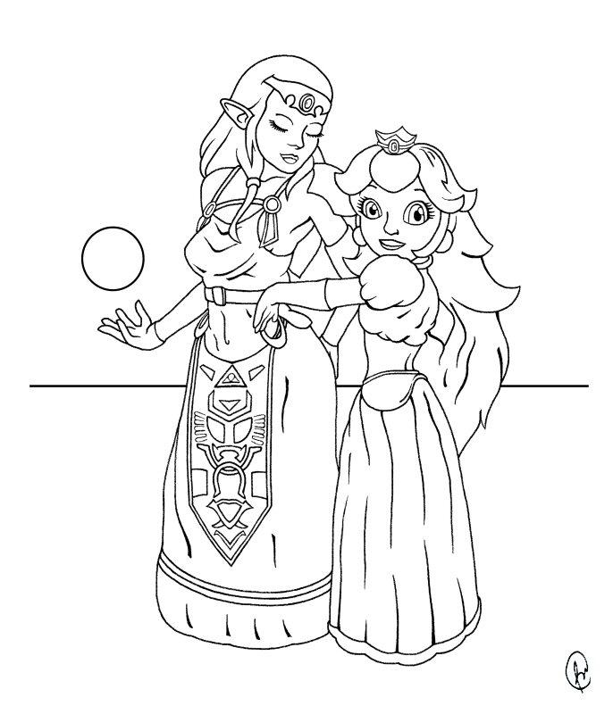 Princess' - ink by DaBear