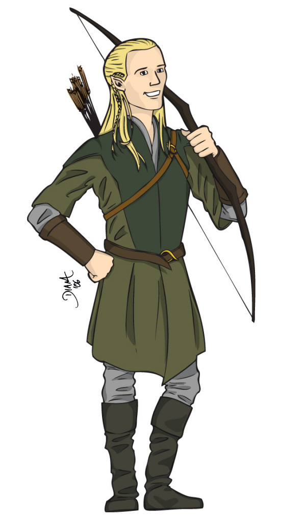 Legolas of the Woodland Realms by Daennika