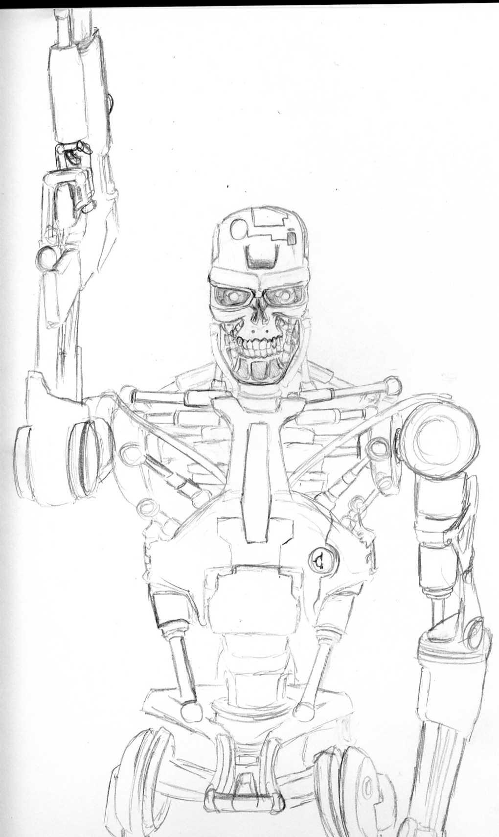 Terminator Endoskeleton by DaiYoSesshomaru