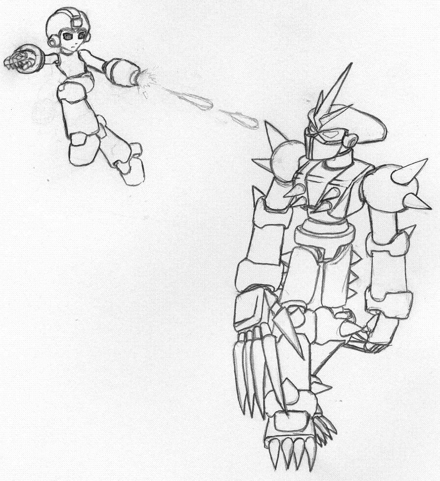 Megaman versus Instant-deathspikeman by DaiYoSesshomaru
