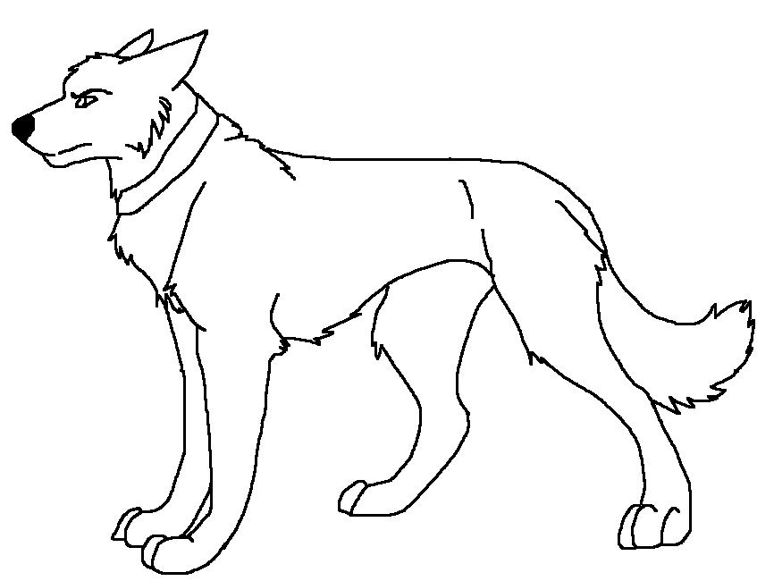 wolf lineart-Dakota0090 by Dakota0090