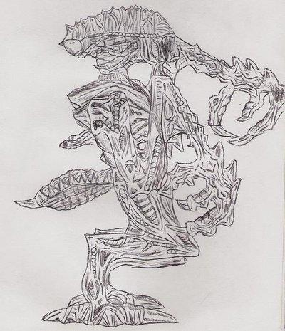 Alien 4: The Praying Mantis by DanteVergilLoverAR