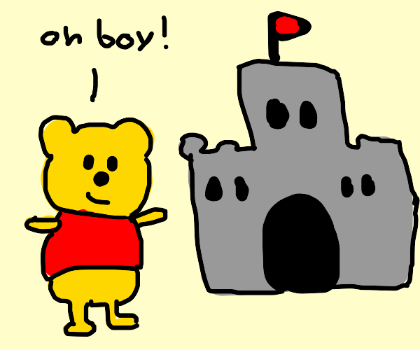 Winnie the Pooh and a Castle by Dariusman143