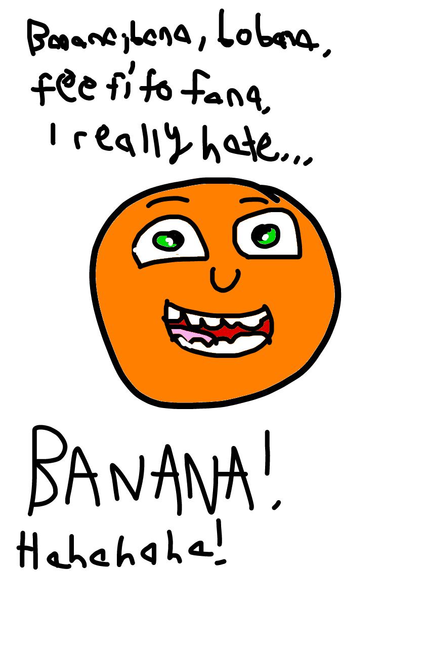 Annoying Orange hates Banana by Dariusman143